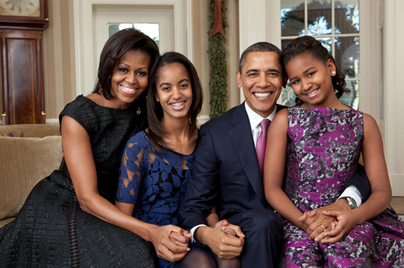 Obama Christmas Portrait 2011