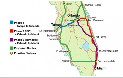 Florida High-Speed Rail Route Map