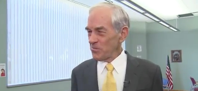 Ron Paul Walks Off Set