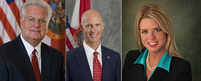 Ken Detzner, Rick Scott, and Pam Bondi