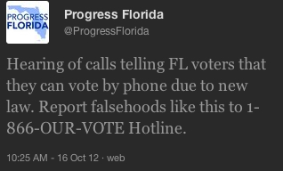 Progress Florida Deceptive Voter Calls