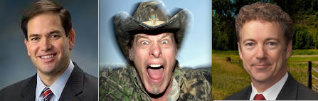 Marco Rubio, Ted Nugent, Rand PAul