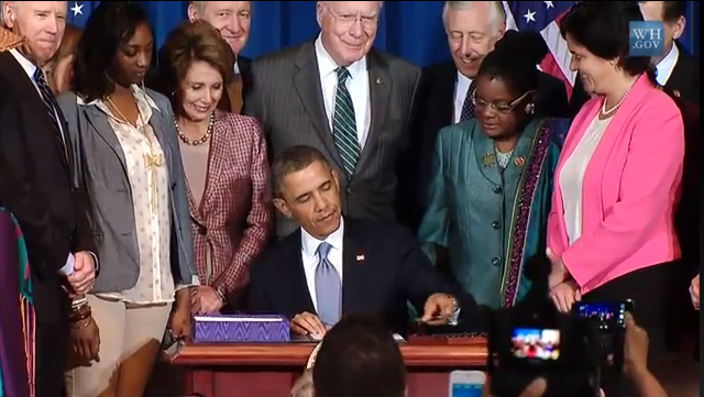 President Obama Reauthorization Of VAWA