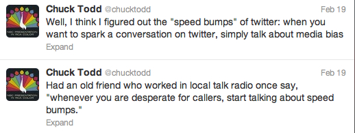 Chuck Todd's speed bump of hypocrisy