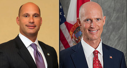 %22Manny%22 Marono and Rick Scott