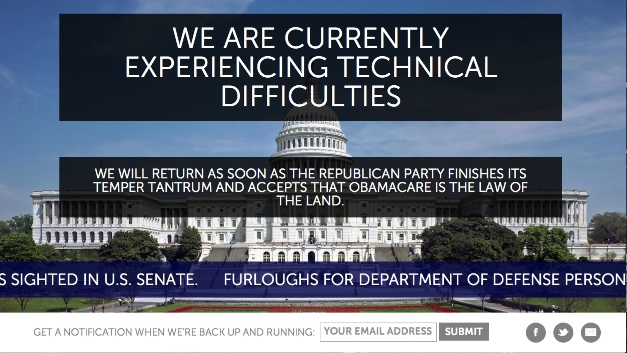 GOP Shutdown Website