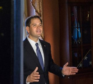Marco Rubio, Practicing GOP SOTU Rebuttal