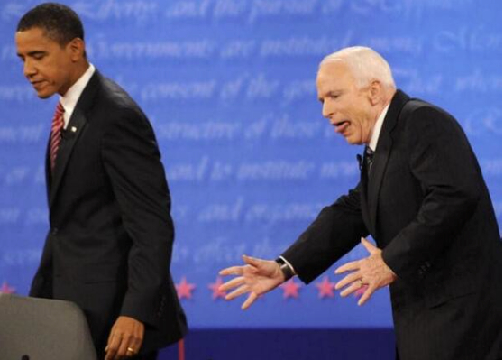 John McCain, Debate Photo