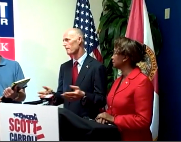 Rick Scott, Jennifer Carroll