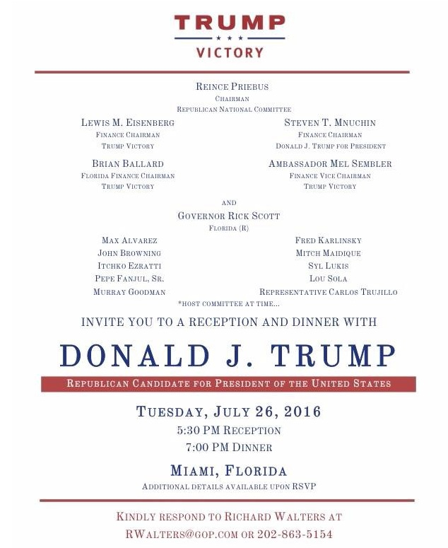 Trump:Scott Florida Fundraiser