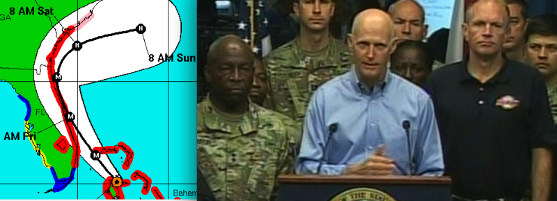 Hurricane Matthew, Rick Scott