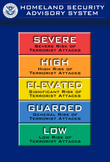 Homeland Security Advisory System Chart