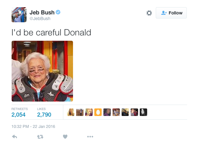 Jeb Using Mom As A Political Football