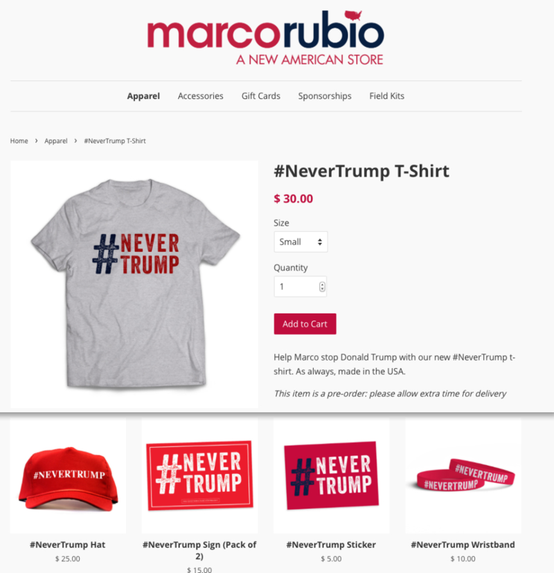Marco Rubio Never Trump Hypocrisy Wear