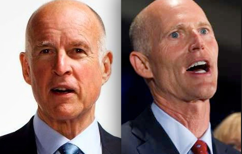 Jerry Brown, Rick Scott