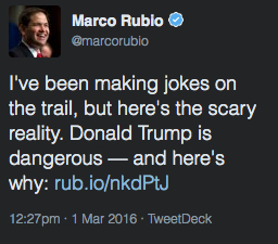 Rubio:Trump Support 3-1116