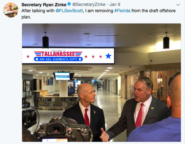 Rick Scott  Ryan Zinke