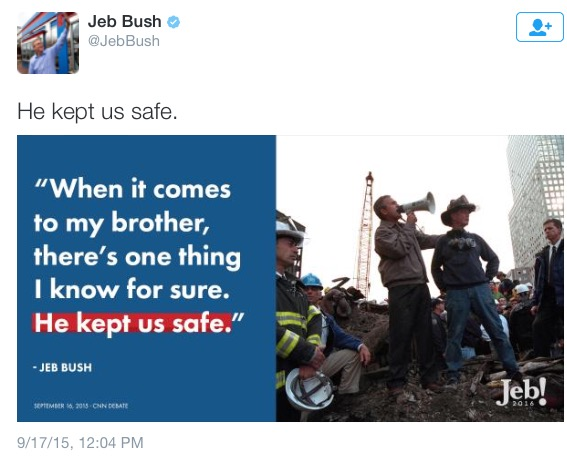 Jeb Bush He Kept Us Safe